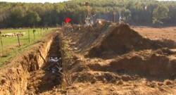 Site en construction du barrage de Sivens, dans le Tarn