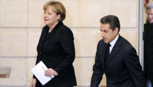 Angela Merkel et Nicolas Sarkozy à l'Elysée, le 5/12/11