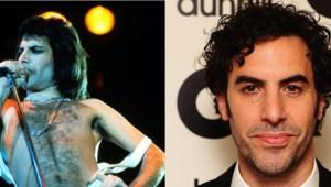 Le chanteur Freddie Mercury incarné au cinéma par l'acteur Sacha Baron Cohen