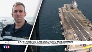 """Opération du porte-avions Charles de Gaulle : """"La collaboration est habituelle"""" avec les Américains"""