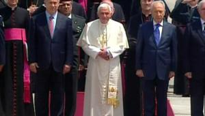 pape arrivée israel netanyahu peres