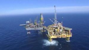 Plateforme Total en mer du nord, victime d'une fuite de gaz (30 mars 2012)