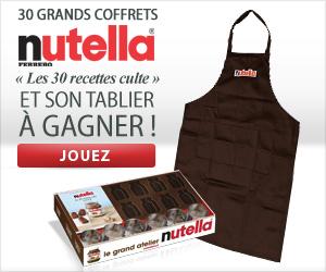 Jouez et gagnez des coffrets Nutella et des tabliers