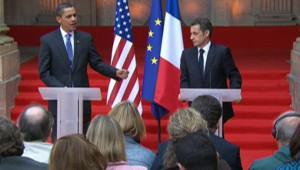 Conférence de presse commune de Barack Obama et Nicolas Sarkozy à Strasbourg (3 avril 2009)