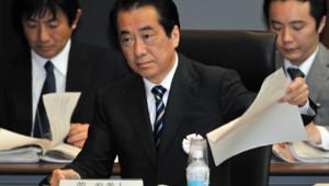 L'ancien chef du gouvernement japonais Naoto Kan, en poste au moment de la catastrophe nucléaire de Fukushima, entendu par une commission d'enquête parlementaire indépendante (28 mai 2012)