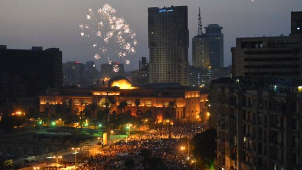 La place Tahrir en liesse après la victoire de Morsi, le 24 juin 2012.