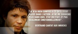 """Le 20 heures du 23 octobre 2013 : Bertrand Cantat parle (enfin) dans les """"Inrocks"""" - 831.124"""