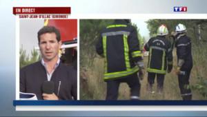 Le 20 heures du 25 juillet 2015 : Incendie en Gironde : le feu s'étend toujours, le vend ennemi redoutable des pompiers - 212