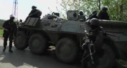 Ukraine : chars de l'armée à Slaviansk, 24/4/14