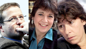 De gauche à droite : Martin Hirsch, Corinne Lepage, Fadela Amara (montage photo)