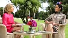 Depuis Cannes, Marion Cotillard se confie à Claire Chazal au JT de 20h