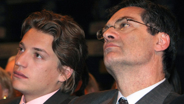 Jean Sarkozy et Patrick Devedjian en mai 2009 à Issy-les-Moulineaux dans les Hauts-de-Seine