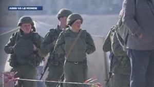 Des militaires en Crimée.