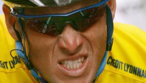 Lance Armstrong en 2005 sur le tour de France.