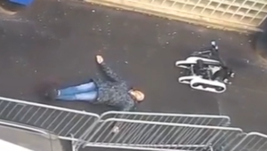 Le robot démineur de la police française.
