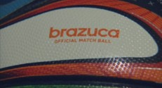 """Brazuca"", le ballon de football officiel du Mondial 2014."
