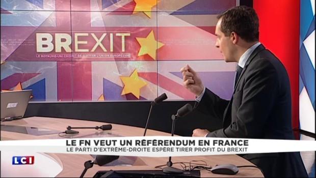 """Brexit : """"Les Britanniques montrent la voie aux autres nations européennes"""", juge Nicolas Bay"""