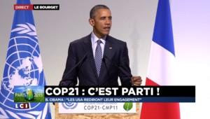 "COP21 : ""Les Etats-Unis rediront leur engagement"" promet Obama"