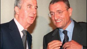 Edouard Balladur et Philippe Léotard en 1997.