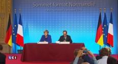 Hollande et Merkel main dans la main au Parlement européen, 26 ans après Mitterrand et Kohl