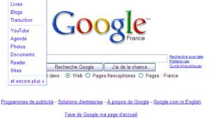 La page d'accueil de Google le 14 avril 2009