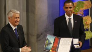 Barack Obama reçoit le Prix Nobel de la Paix 2009 (Oslo, 10/12/09)