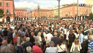 Le 20 heures du 16 septembre 2013 : Braqueur tu� Nice : une marche en soutien au bijoutier - 445.79200000000003