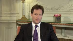 Nick Clegg, vice-premier ministre britannique