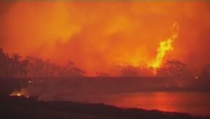 Violents incendies en Australie.