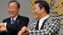 Ban Ki-Moon et Psy-Nations Unies- 23 octobre 2012