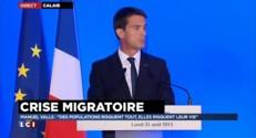 """Crise migratoire : Valls rappelle les chiffres, """"340.000 entrées irrégulières en six mois"""""""