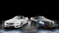 La nouvelle série spéciale de Mercedes, la SL 63 AMG World Championship Edition, pour célébrer Lewis Hamilton, double champion du monde de F1 (2008,2014) et son dauphin de l'année, Nico Rosberg.