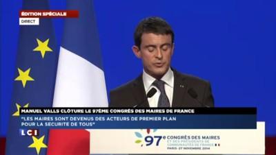 """Valls sur la réforme territoriale : """"C'est ça la démocratie, respecter le choix des élus"""""""