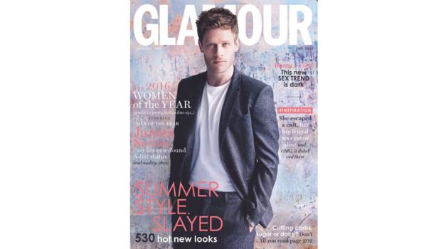 James Norton en couverture du Glamour britannique