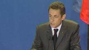 Sarkozy devant les étudiants chinois