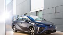 La nouvelle berline à quatre portes 100% électrique de Toyota : la Mirai (qui veut dire Futur en japonais).