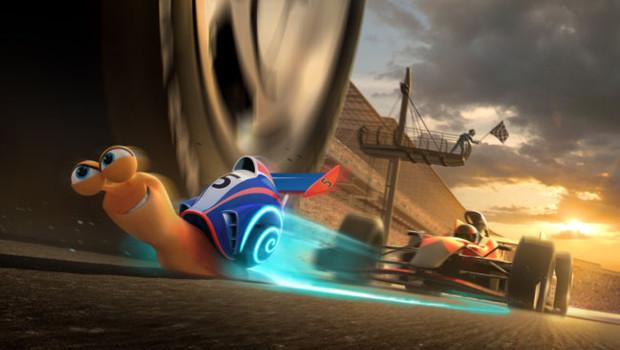 """""""Turbo"""" de David Soren. Avec les voix de Ryan Reynolds, Samuel L. Jackson et Paul Giamatti."""
