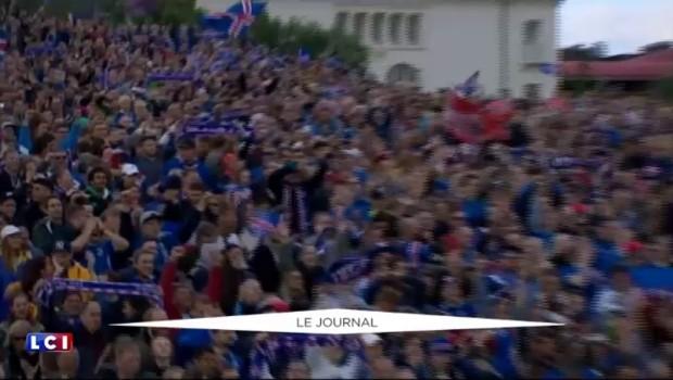 Euro : la nuit de liesse des Islandais de Nice à Reykjavik