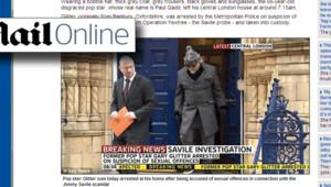 Affaire Jimmy Savile : l'arrestation de Gary Glitter annoncée par le site du Daily Mail (28 octobre 2012)