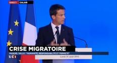"""Crise migratoire : Valls l'annonce, pour aider Calais """"l'Etat sera au rendez-vous"""""""