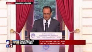 """Hollande : """"J'ai demandé que puissent être menés des vols de reconnaissance au dessus de la Syrie"""""""