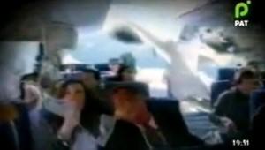 Image diffusée sur la télévision bolivienne PAT et présentée comme une scène du crash du vol Rio-Paris (21 juin 2009)