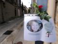 Affichette pou rendre hommage à Océane, fillette de 8 ans enlevée et tuée à Bellgarde, dans le Gard
