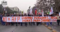 Chili : manifestation monstre à Santiago contre le système de pensions privées