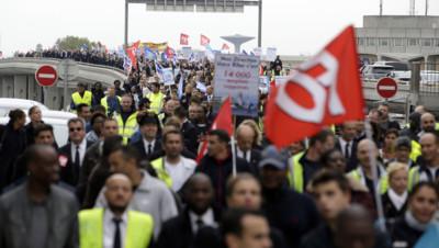 Des salariés d'Air France