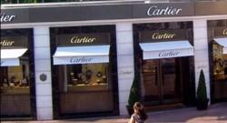 La bijouterie Cartier sur la Croisette à Cannes