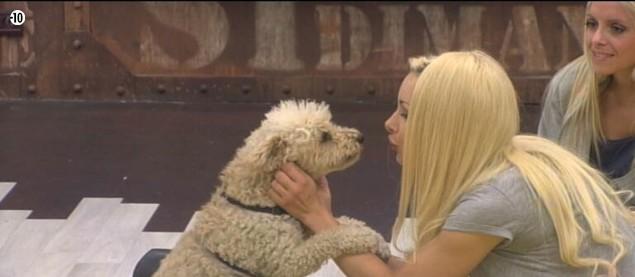 Florine est très heureuse de retrouve son bébé et lui fait plein de bisous.