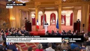 Hollande souhaite que la Grande-Bretagne reste dans l'UE