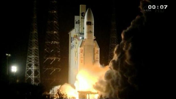 La fusée Ariane 5-ES a mis sur orbite vendredi 23 mars un véhicule de transfert automatique (ATV).