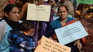 Le mardi 15 janvier 2013. Des manifestations se poursuivent à New Delhi pour protester contre les nombreuses affaires de viols